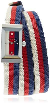 Gucci G-Frame Web Triple Wrap Around Watch