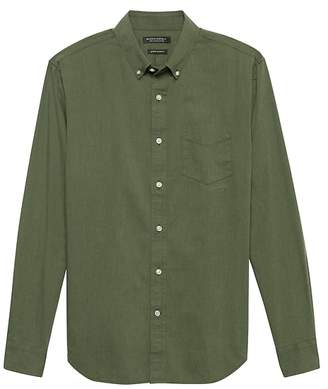 Banana Republic Grant Slim-Fit Heathered Oxford Shirt