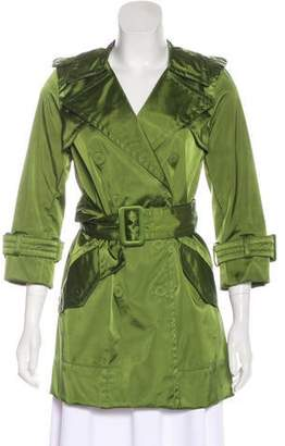 Marc Jacobs Belted Satin Coat