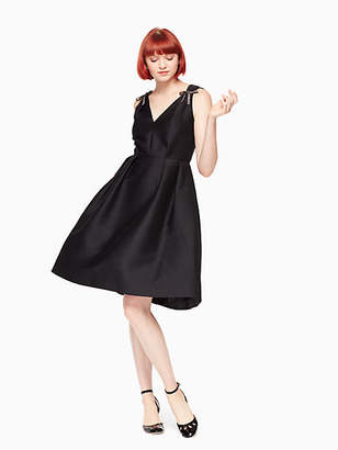 Kate Spade Bow embellished fit and flare dress