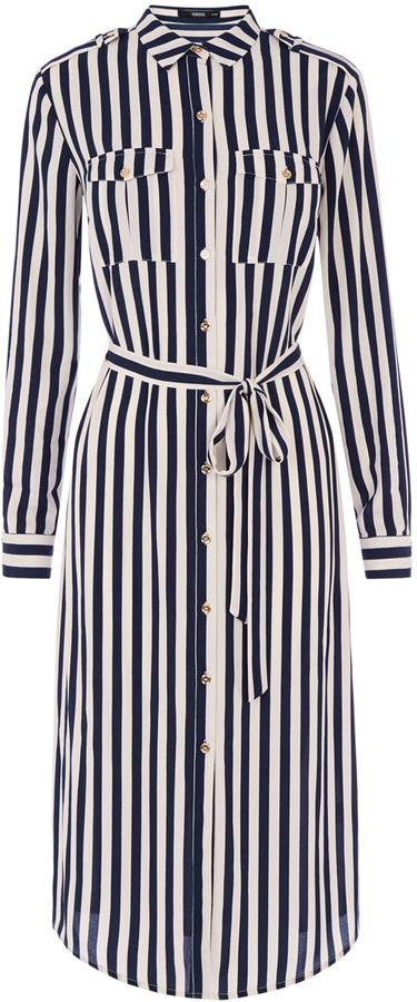 Utility Stripe Shirt Dress
