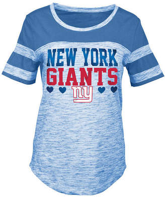 5th & Ocean New York Giants Space Dye Foil Heart T-Shirt, Girls (4-16)