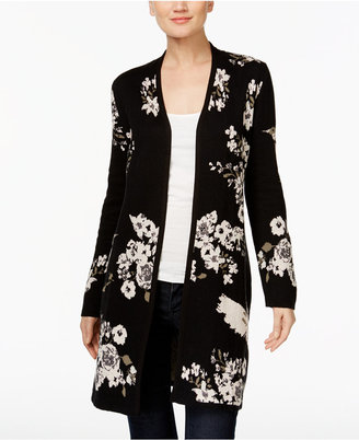 INC International Concepts Embroidered Duster Cardigan, Only at Macy's $109.50 thestylecure.com