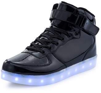 3.1 Phillip Lim KEVENI Kids Boys Girls High Top USB Charging Led Shoes Light Up Flashing Shoes Fashion Sneakers 30