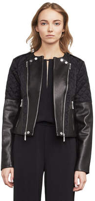 BCBGMAXAZRIA Logan Leather Moto Jacket