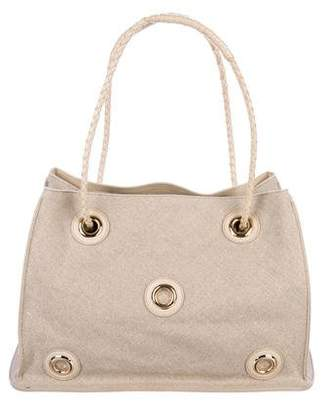 Bottega Veneta Grommet-Embellished Canvas Tote