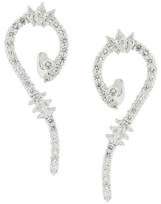 Yeprem 18kt gold diamond swirl earrings