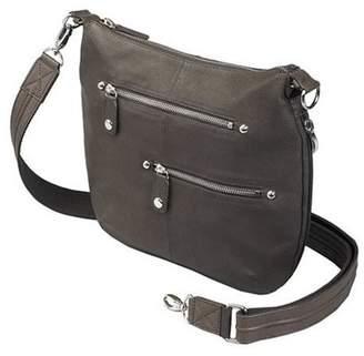 Gun Toten' Mama GTM Concealed Carry Chrome Zip Handbag, Brown