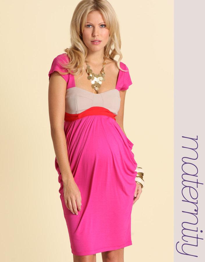 ASOS MATERNITY Colour Block Cap Sleeve Dress