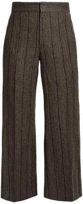 Isabel Marant Keroan striped flared cropped trousers