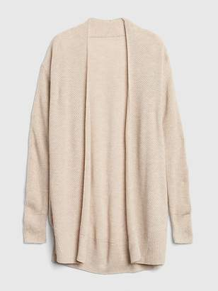 Gap Textured Open-Front Cardigan Sweater in Merino Wool-Blend