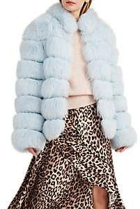 LILLY e VIOLETTA Women's Fox Fur Coat - Lt. Blue