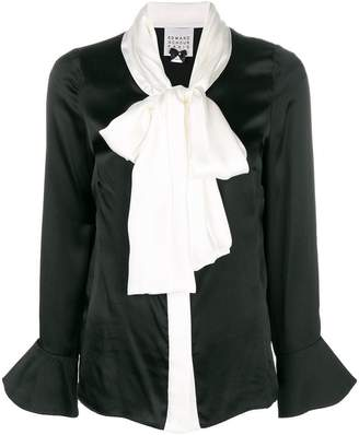 Edward Achour Paris pussy bow blouse