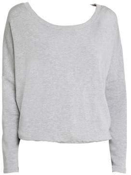 Eberjey Winter Heather Slouchy Long Sleeve Sweatshirt