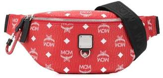 MCM logo zipped belt bag