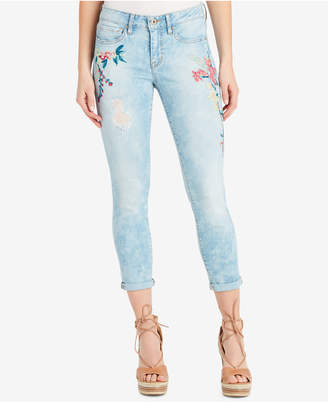 Jessica Simpson Juniors' Forever Rolled Ripped Skinny Jeans