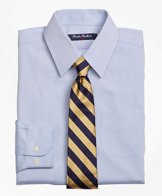 Brooks Brothers Boys Non-Iron Supima Pinpoint Cotton Forward Point Dress Shirt