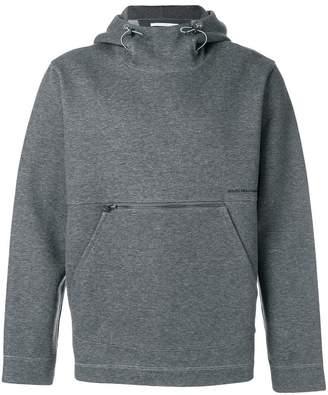 White Mountaineering logo printed hoodie
