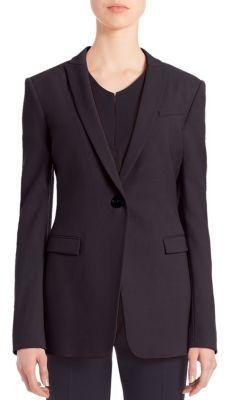 Armani Collezioni Textured Strech Wool Jacket $1,295 thestylecure.com