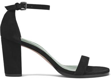 Stuart Weitzman - Nearlynude Suede Sandals - Black