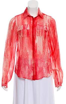 Reed Krakoff Python Print Button-Up