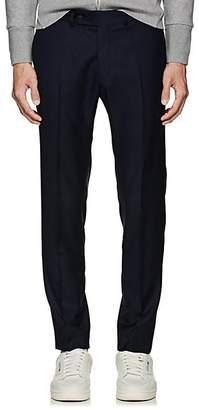Brooklyn Tailors Men's Wool Flat-Front Trousers - Navy