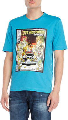 Love Moschino Magazine Cover Tee