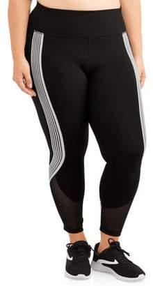deebbc522a8 Avia Women s Plus Size Active Stripe It Up Performance Crop Legging