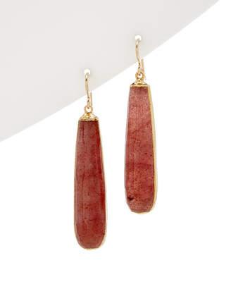 Devon Leigh 24K Foil Agate Drop Earrings