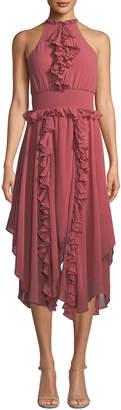 Keepsake Say Something Ruffle Chiffon A-line Dress