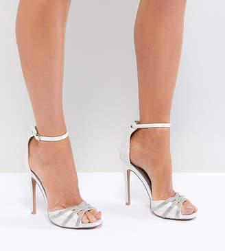 Qupid Embellished Bridal Heeled Sandals