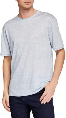 Ermenegildo Zegna Men's Linen-Blend Heathered T-Shirt