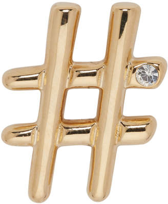 Marc Jacobs Gold Hashtag Brooch