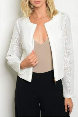 Available White Lace Jacket
