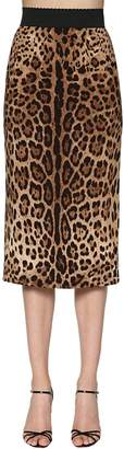 Dolce & Gabbana Leopard Printed Stretch Cady Pencil