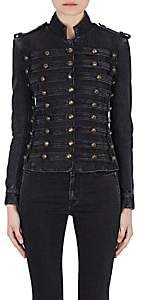 Saint Laurent Women's Denim Officers Jacket - Black