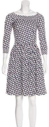 Prada Geometric Print Knee-Length Dress
