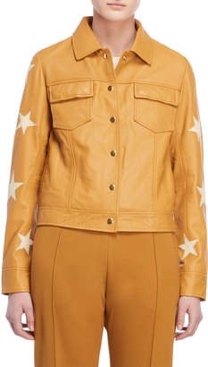 Scotch & Soda Leather Star Jacket