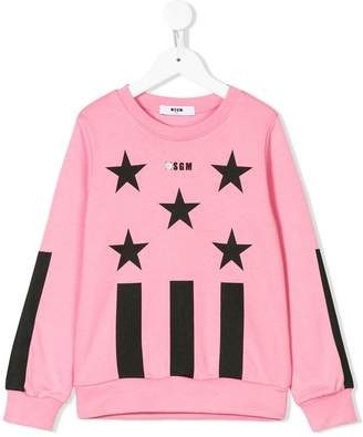 MSGM Kids stars and stripes sweatshirt
