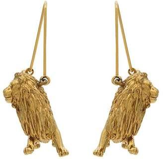 Givenchy gold metallic leo zodiac earrings