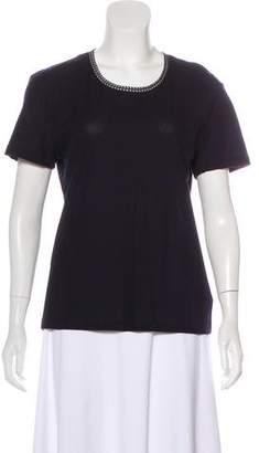 Alexander McQueen Short Sleeve Knit Top