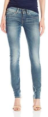 G-Star Raw Women's Midge Saddle Mid Rise Straight Leg Jean in Maidu Stretch $160 thestylecure.com