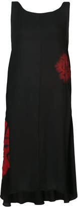 Y's printed sleeveless trapeze hem midi dress