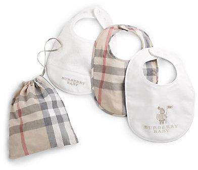 Burberry Infant's Three-Piece Bib Set