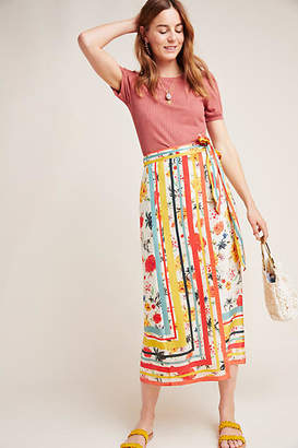 Geisha Designs Elana Wrap Midi Skirt