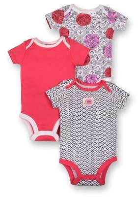 Lamaze Organic Short Sleeve Bodysuits, 3pk (Baby Girls)