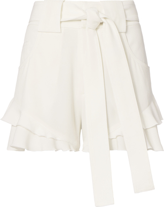 Derek Lam 10 Crosby Crepe Ruffle Shorts $395 thestylecure.com