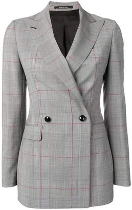 Tagliatore double breasted check blazer