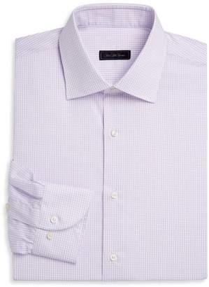 Saks Fifth Avenue Travel Mini-Grid Dress Shirt