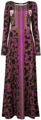 Temperley London abstract print maxi dress